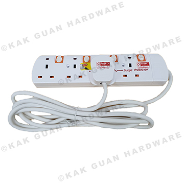 PSE 8314-3M 4WAY 3M EXTENSION SOCKET WITH SURGE PROTECTOR