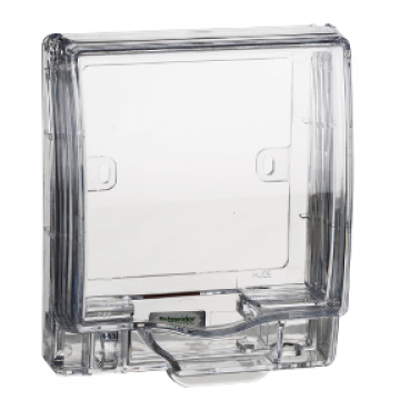 SCHNEIDER E223R_TR FULL-TIME WEATHERPROOF 1GANG CLEAR TRANSPARENT SOCKET COVER
