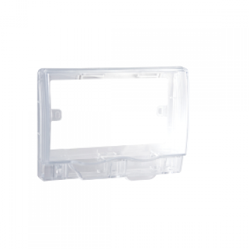 SCHNEIDER ET223R_TR FULL-TIME WEATHERPROOF TWIN GANG CLEAR TRANSPARENT SOCKET COVER