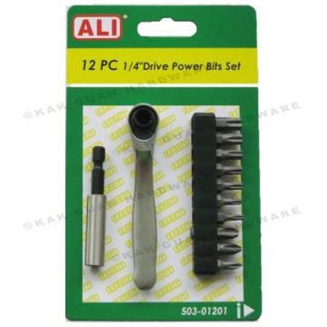 ALI 503-01201 12PCS RATCHET POWER BIT SET