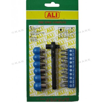 ALI 503-01701 17PCS TORX-STAR BIT & SOCKET SET