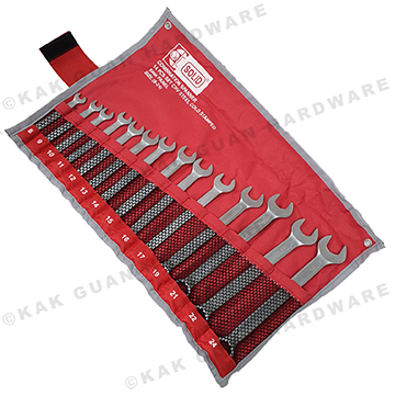 SOLID 14PCS COMBINATION SPANNER SET (SIZE 8-17, 19, 21, 22 & 24MM)