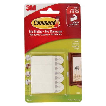 3M COMMAND 17202 SMALL PICTURE HANGING STRIPS
