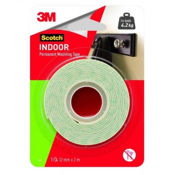 3M SCOTCH 114 24MM X 1M INDOOR PERMANENT MOUNTING TAPE