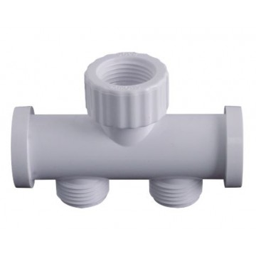 "SHOWY 2396-001 WHITE (1/2"") DOUBLE HOSE CONNECTOR"