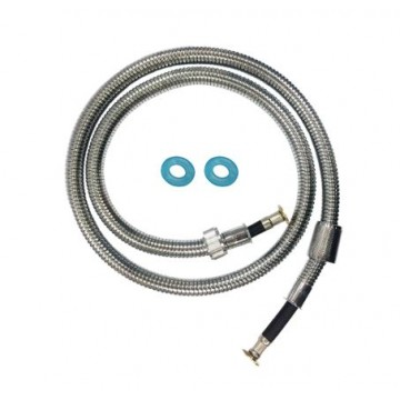 "SHOWY 6310-400 120CM (48"") HIGH QUALITY EXPLOSION-PROOF STAINLESS STEEL FLEXIBLE HOSE"