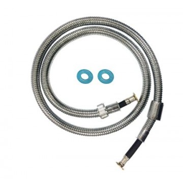 "SHOWY 6312-400 180CM (72"") HIGH QUALITY EXPLOSION-PROOF STAINLESS STEEL FLEXIBLE HOSE"