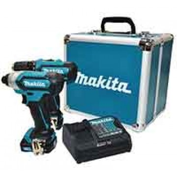 MAKITA CLX201SAX1 12V CORDLESS COMBO KIT (2.0Ah BATTERIES)