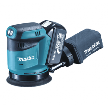"MAKITA DBO180Z 125MM (5"") 18V CORDLESS RANDOM ORBIT SANDER (BARE)"