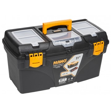 "MANO C.OR-21 21"" BLACK TOOL BOX WITH ORGANIZER"