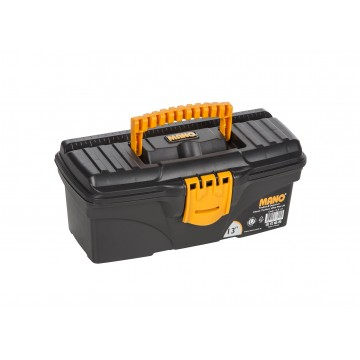 "MANO C.SR-13 13"" BLACK TOOL BOX WITH FLAT LID"