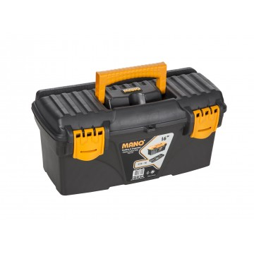 "MANO C.SR-16 16"" BLACK TOOL BOX WITH FLAT LID"