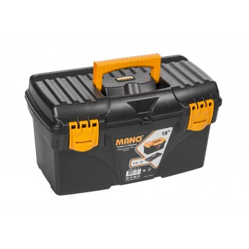 "MANO C.SR-18 18"" BLACK TOOL BOX WITH FLAT LID"