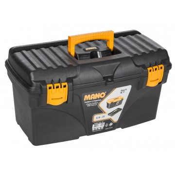 "MANO C.SR-21 21"" BLACK TOOL BOX WITH FLAT LID"