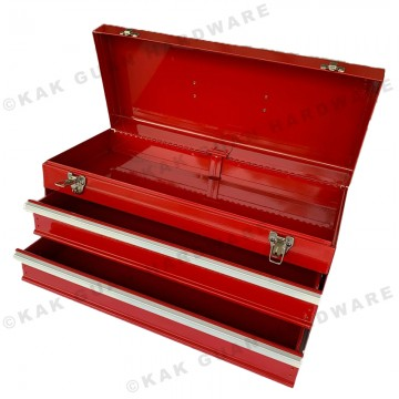 MB-530-2 RED METAL TOOL BOX WITH 2 LAYER DRAWERS