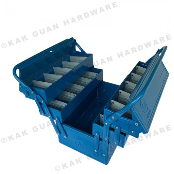 HB-360-3 BLUE 3 LAYERS METAL TOOL BOX