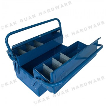 HB-420-2 BLUE 2 LAYERS METAL TOOL BOX