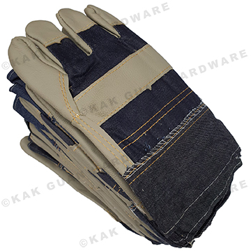 GLOVE LEATHER BLUE (DOZEN PAIRS)