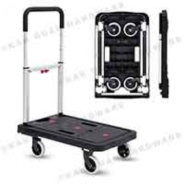 MIC1001 BLACK FOLDABLE TROLLEY (150KG)
